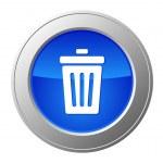 Recycle bin button — Stock Vector