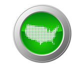 Map of USA button — Stock Vector