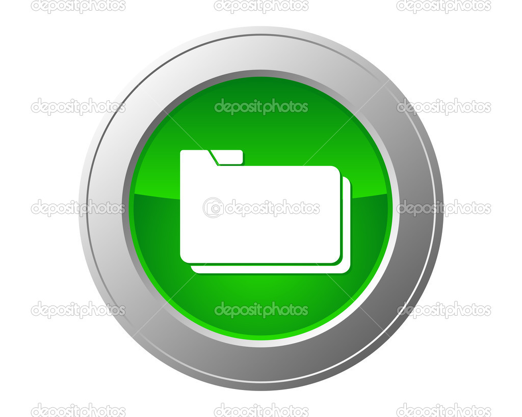 Folder button — Stock Vector #9948206