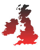 Map of the British Isles — Stockvector