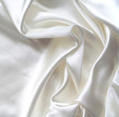 Smooth elegant white silk as background — Stock Photo