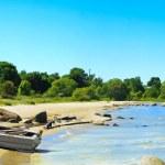 łódź na brzegu Zatoki — Zdjęcie stockowe