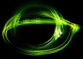 Green flame on black — Stock Photo