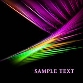 Color fractal template — Stock Photo