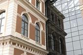 Mistura de vezes em arquitetura — Foto Stock