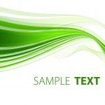 Green ribbon — Stock Vector
