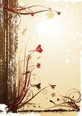 ビンテージ秋の背景 — ストックベクタ