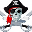 Stock Vector: Pirate Skull