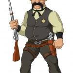 Wild west. Cartoon sheriff — Stock Vector