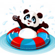 Stock Vector: Summer fun Panda