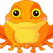 Stock Vector: Fun zoo. Golden Toad