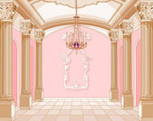 Ballroom van magische kasteel — Stockvector