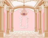 魔幻城堡的宴会厅 — 图库矢量图片