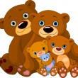 Bear family — Image vectorielle