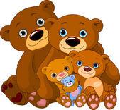 Familia oso — Vector de stock