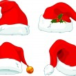Santa Claus  hat collection - Stock Vector