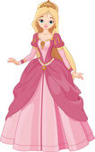 Beautiful princess — Stockvector