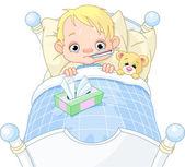 Sick Boy — Stock Vector