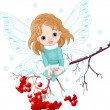 Winter Baby Fairy - Stock Vector