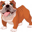 Stock Vector: English bulldog