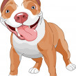 Pitbull  dog - Stock Vector