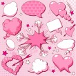 Love speech bubbles - Stock Vector
