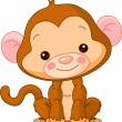 Fun zoo. Monkey — Stock Vector