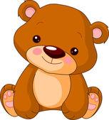 весело зоопарк. медведь — Cтоковый вектор