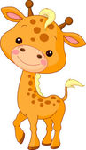 Fun zoo. Giraffe — Stock Vector