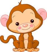 Fun zoo. Monkey — Stock Vector