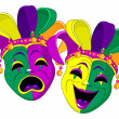 Mardi Gras Masks — Stock Vector #8533422
