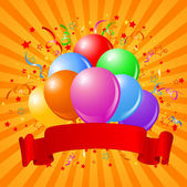 Birthday balloons design — Stock Vector
