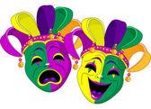 Mardi gras maskers — Stockvector