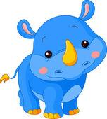 Fun zoo. Rhino — Stock Vector