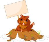 Groundhog Day billboard — Stock Vector