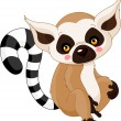 Fun zoo. Lemur - Stock Vector