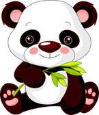 Fun zoo. Panda — Stock Vector