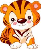 Plaisir zoo. tigre — Vecteur