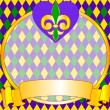 Mardi Gras background design - Stock Vector