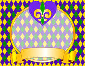 Mardi Gras background design — Stock Vector