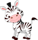 Fun zoo. Zebra — Stock Vector