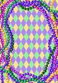 Mardi Gras beads background — Vector de stock