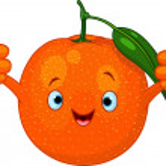 Cheerful Cartoon Orange character — Stock Vector #9011387