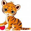 Cute tiger cub — Stock Vector