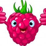 Cheerful Cartoon Raspberry character — Stock Vector #9344757