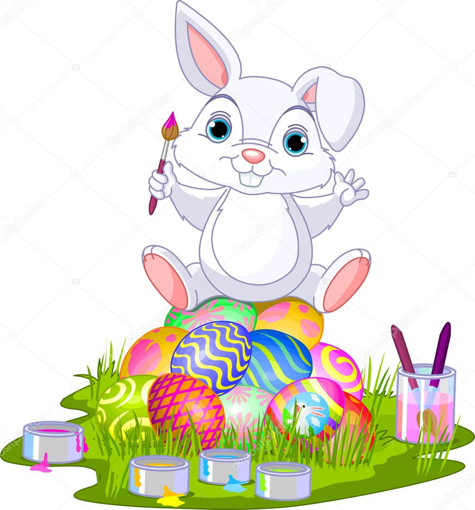 Cockatile Sitting On Easter Eggs 61