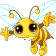 Cute Bee flying - Stock Vector