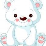 divertente zoo. orso polare — Vettoriale Stock