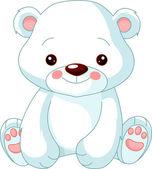 весело зоопарк. белый медведь — Cтоковый вектор