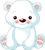 Zoológico de la diversión. oso polar — Vector de stock